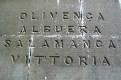 Cole's Monument Battle Inscription image. Click for full size.