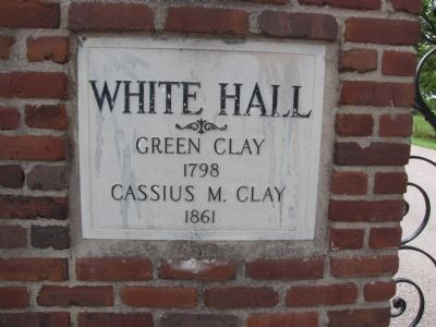 White Hall entrance plaque image. Click for full size.