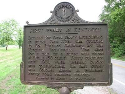 First Ferry in Kentucky Marker image. Click for full size.