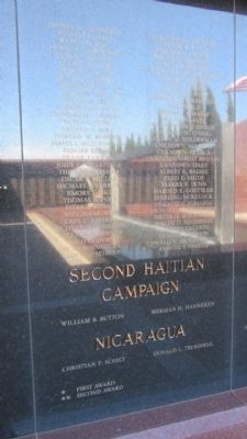 Second Haitian Campaign and Nicaragua Panels image. Click for full size.