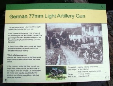 German 77mm Light Artillery Gun Marker image. Click for full size.