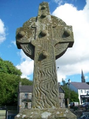 Lisnaskea Market Cross (east face) image. Click for full size.