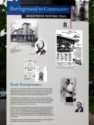 Early Entrepreneurs Marker image. Click for full size.