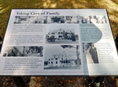 Taking Care of Family Marker image. Click for full size.