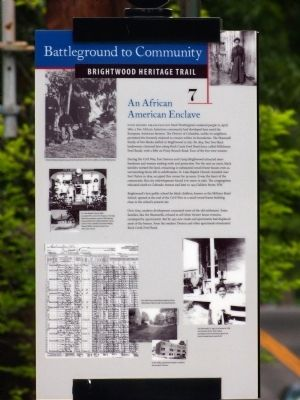 An African American Enclave Marker image. Click for full size.