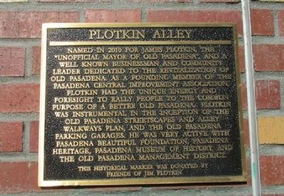 Plotkin Alley Marker image. Click for full size.