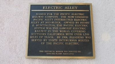 Electric Alley Marker image. Click for full size.