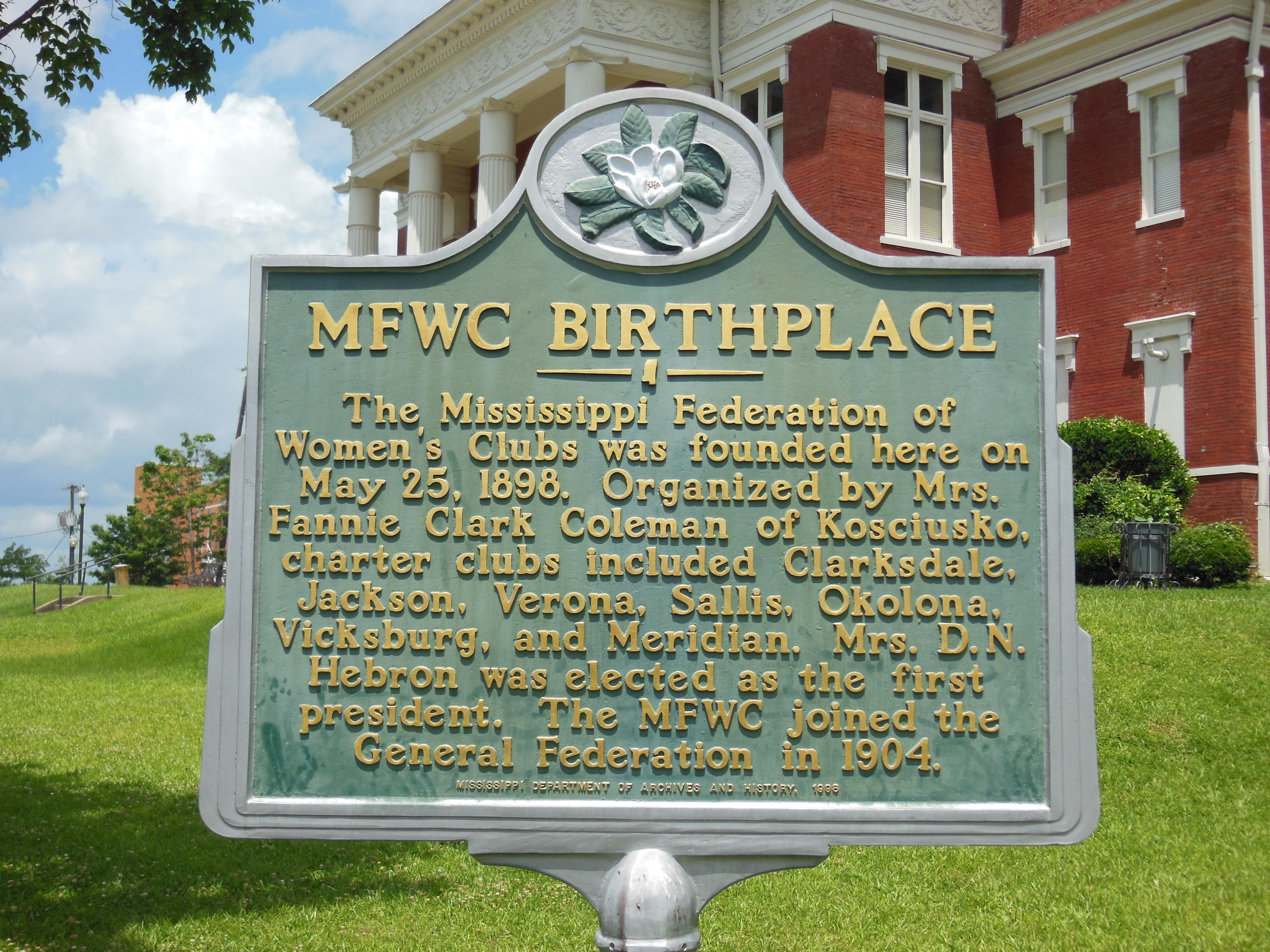 MFWC Birthplace Marker
