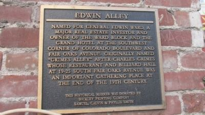 Edwin Alley Marker image. Click for full size.
