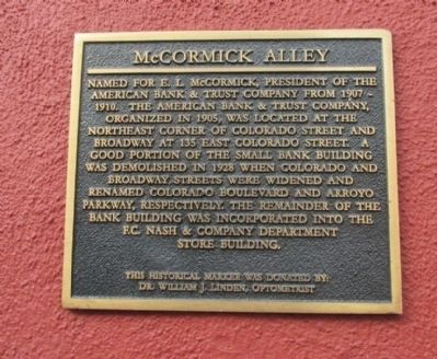 McCormick Alley Marker image. Click for full size.