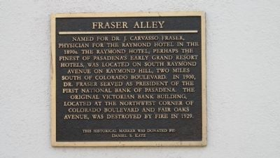 Fraiser Alley Marker image. Click for full size.