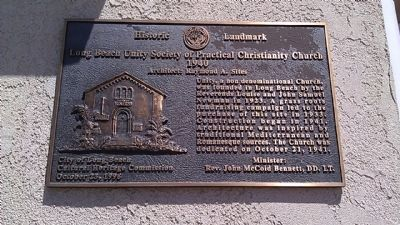 Long Beach Unity Society of Practical Christianity Church Marker image. Click for full size.