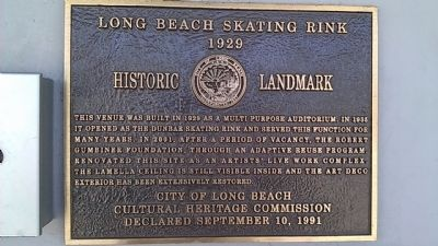 Long Beach Skating Rink Marker image. Click for full size.