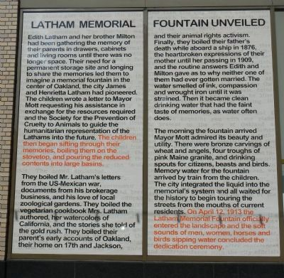 Latham Memorial Fountain Unveiled Marker image. Click for full size.