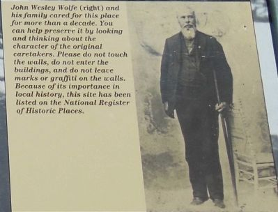 John Wesley Wolfe (<i>inset picture and text</i>) image. Click for full size.