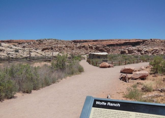 Wolfe Ranch beyond Marker (<i>wide view</i>) image. Click for full size.