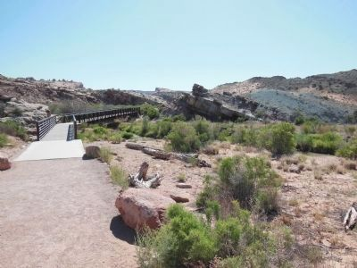 Wolfe Ranch Salt Wash Foot Bridge image. Click for full size.