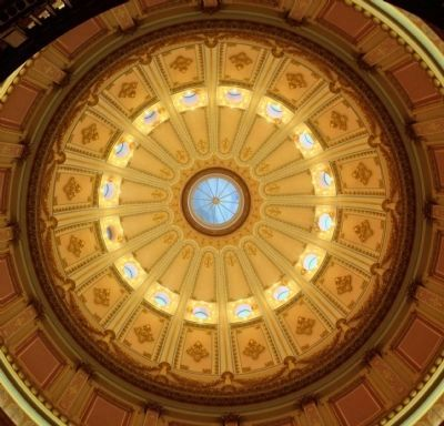 The Capitol Rotunda, as seen from below image. Click for full size.