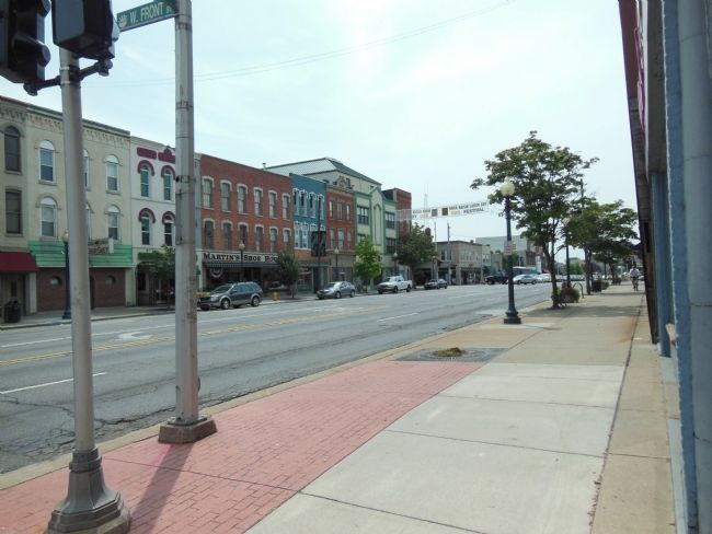 Monroe Street (<i>looking southwest from the marker</i>) image. Click for full size.
