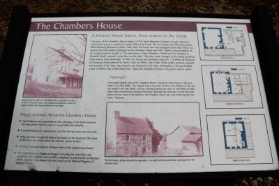 The Chambers House Marker image. Click for full size.