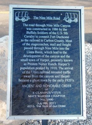 The Nine Mile Road Marker image. Click for full size.