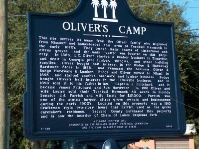 Oliver's Camp Marker image. Click for full size.