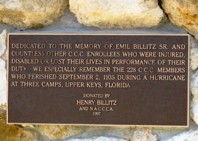 Dedicated to the Memory of Emil Billitz Sr. image. Click for full size.