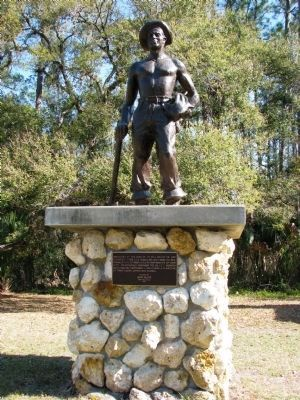 CCC Worker Statue Dedicated to Emil Billitz Sr. image. Click for full size.