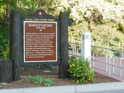 Maralyn Budke Marker (<i>wide view - showing adjacent walkway</i>) image. Click for full size.