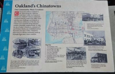 Oakland's Chinatowns Marker image. Click for full size.