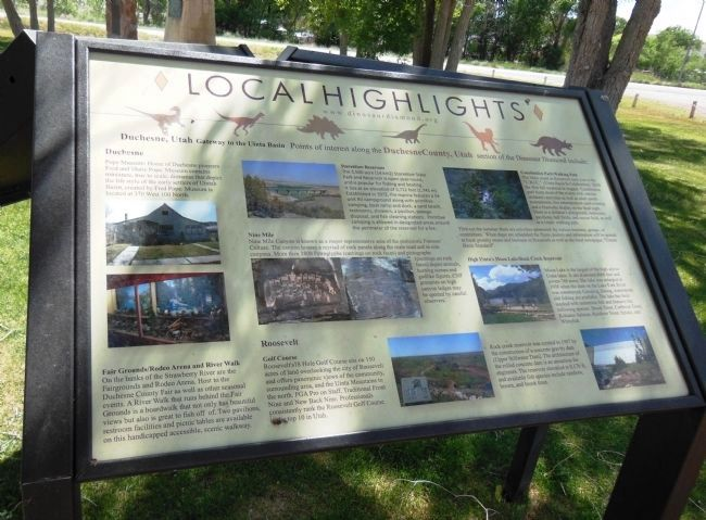 Duchesne Local Highlights Placard image. Click for full size.