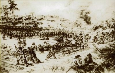 Troops Destroying Railroad Tracks image. Click for full size.