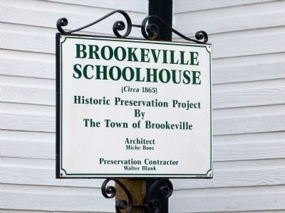 Brookeville Schoolhouse image. Click for full size.