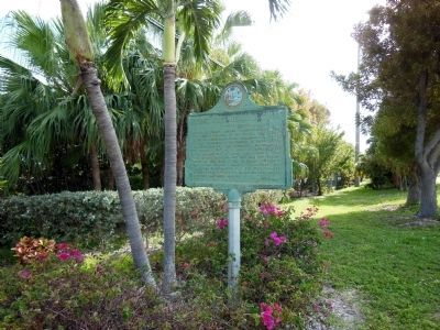 Long Key Fishing Club Marker (<i>obverse wide view </i>) image. Click for full size.