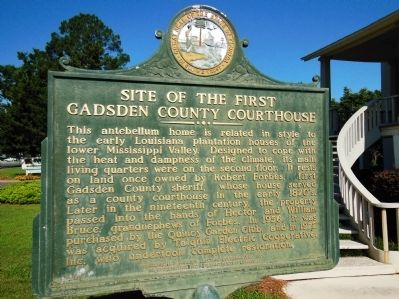Site of the First Gadsden County Courthouse Marker image. Click for full size.