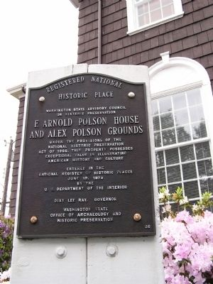 F. Arnold Polson House and Alex Polson Grounds Marker image. Click for full size.