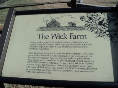 The Wick Farm Marker image. Click for full size.
