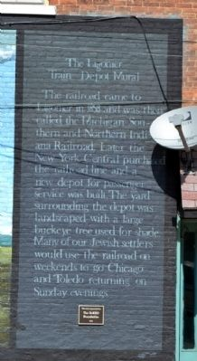 The Ligonier Train Depot Marker image. Click for full size.
