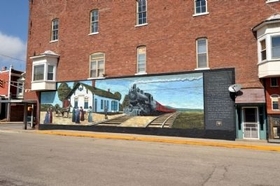The Ligonier Train Depot Mural image. Click for full size.