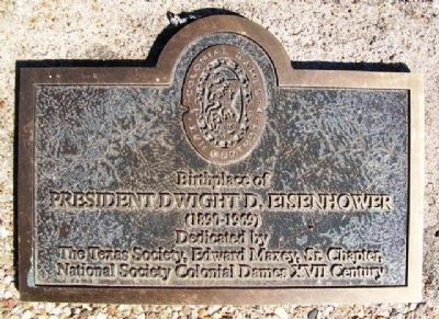 Birthplace of President Dwight D. Eisenhower Marker image. Click for full size.