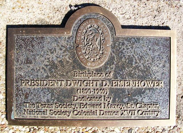 Birthplace of President Dwight D. Eisenhower Marker