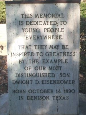 Dwight David Eisenhower Monument Dedication image. Click for full size.