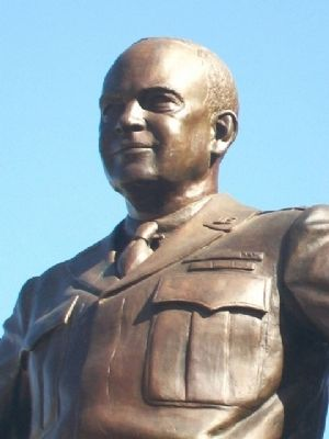 Dwight David Eisenhower Statue Detail image. Click for full size.