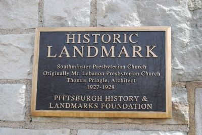 Southminster Presbyterian Church Marker image. Click for full size.