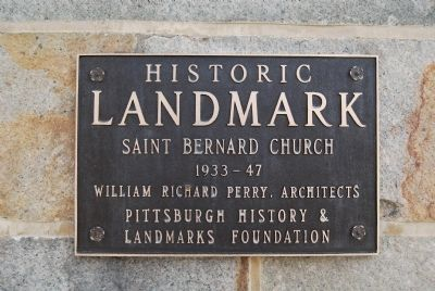 Saint Bernard Church Marker image. Click for full size.