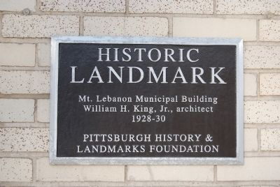 Mt. Lebanon Municipal Building Marker image. Click for full size.
