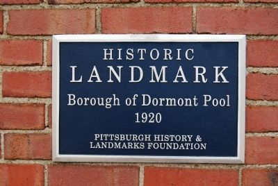 Borough of Dormont Pool Marker image. Click for full size.
