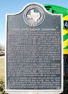 North-South Railway Connection Marker image. Click for full size.