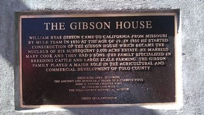 The Gibson House Marker image. Click for full size.