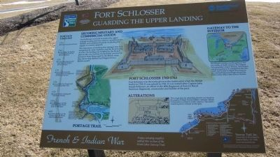 Fort Schlosser Marker image. Click for full size.